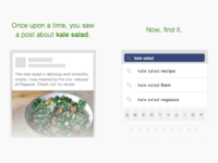 Facebook Post Search FTU concept