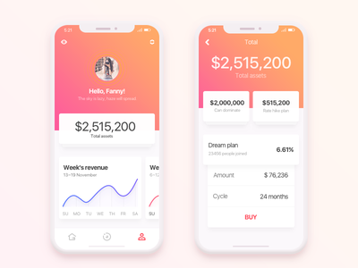 Financial app 2.0 ux ui transaction payments graph cards card business budget banking bank app