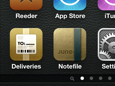 Experimenting notefile ios iphone icon delivery status deliveries