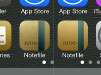 Notefile for iOS icon