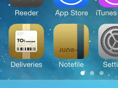 Notefile for iOS icon, once more notefile iphone ios icon brown delivery status deliveries