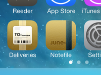 Notefile for iOS icon, once more