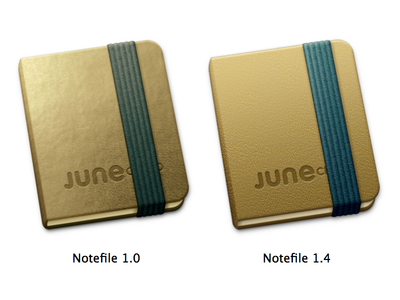 Notefile for Mac icon, revised