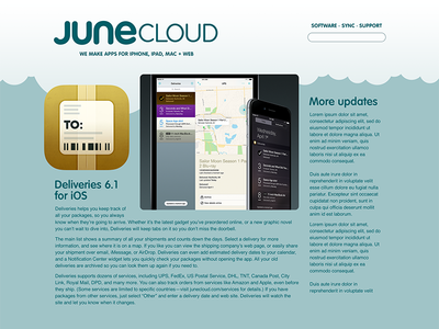 Junecloud.com redesign