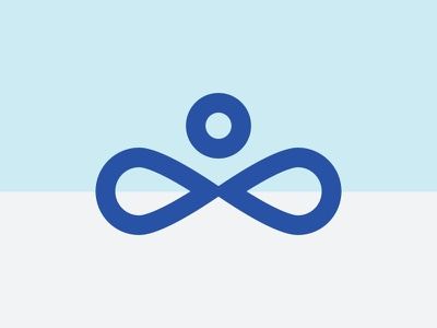 Long Island Yoga School Logo meditation wellness yoga blue branding vector logo