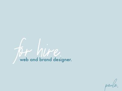 Brand and web designer for hire ui ux designer brand web branding available for hire available for hire