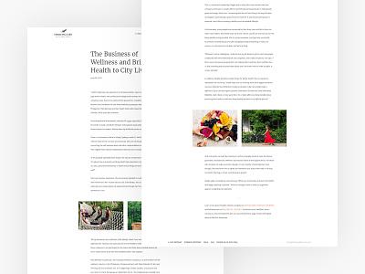 Thriving Life blog page ux ui typography simple minimal design clean branding blog design blog