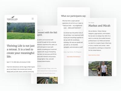 Thriving Life responsive design