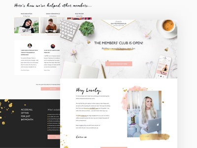 Female Entrepreneur Association Landing Page