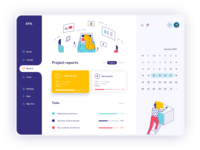 Management app tablet app web design dashboard app minimal business mobile clean web illustration ui