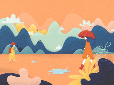 Autumn Rains mountains rain smashing magazine smashing autumn fall wallpaper illustration