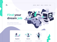 Find Job landing page