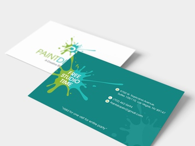 Free Studio Time Business Card Design