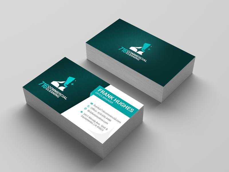 716 Commercial Cleaning illustration typography logodesign visiting card design visiting cards business card graphicsdesign design sudiptaexpert business cards business card design businesscard branding logo design branding design banding graphics design