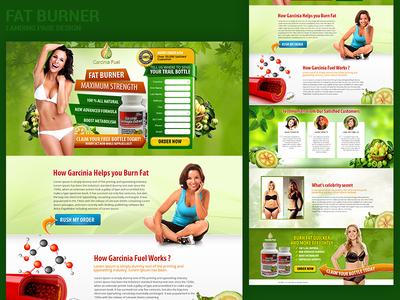 Fat Burner Landing Page Design