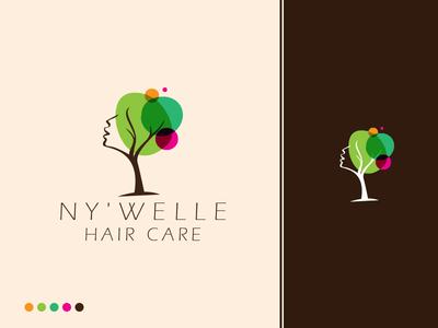 Ny'welle hair  care  logo