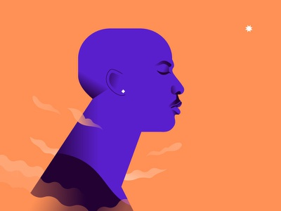 His airness star legend nba chicago bulls portrait vector minimalist illustration minimal colors flat character