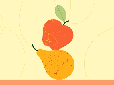 Good Goût 2 texure vector food leaf pear apple fruits minimalist illustration minimal colors flat