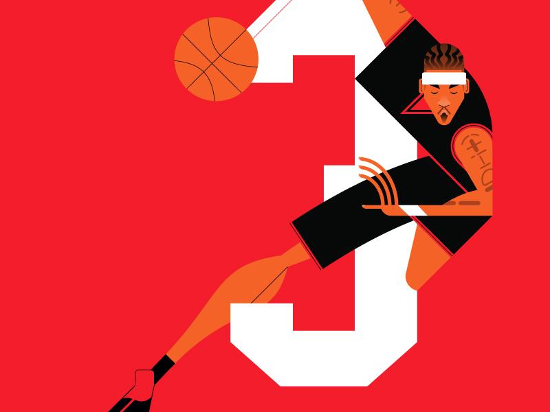 Allen wip sport portrait nba legend alleniverson allen flat color basketball basket