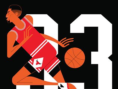 Scottie chicago bulls wip sport portrait nba legend flat color basketball scottie basket