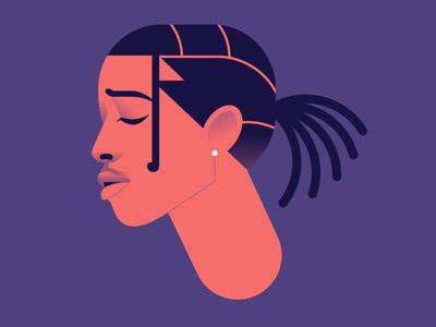 A$AP Rocky hiphop rap asap rocky character portrait minimalist flat simple