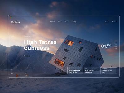 Cubic mountain arch house Slovakia slovakia web mountain nature minimal inspiration housing design