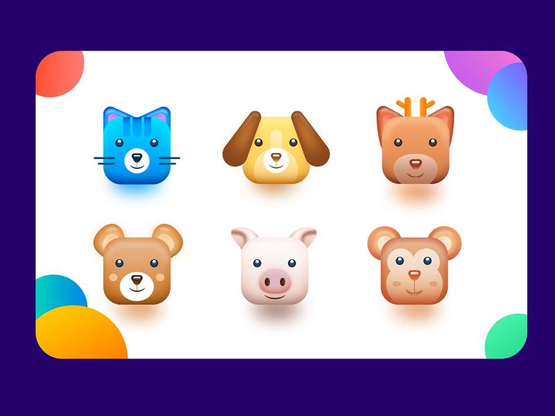 Search for cuteness design 设计 商标 app illustration 插图 图标 icon