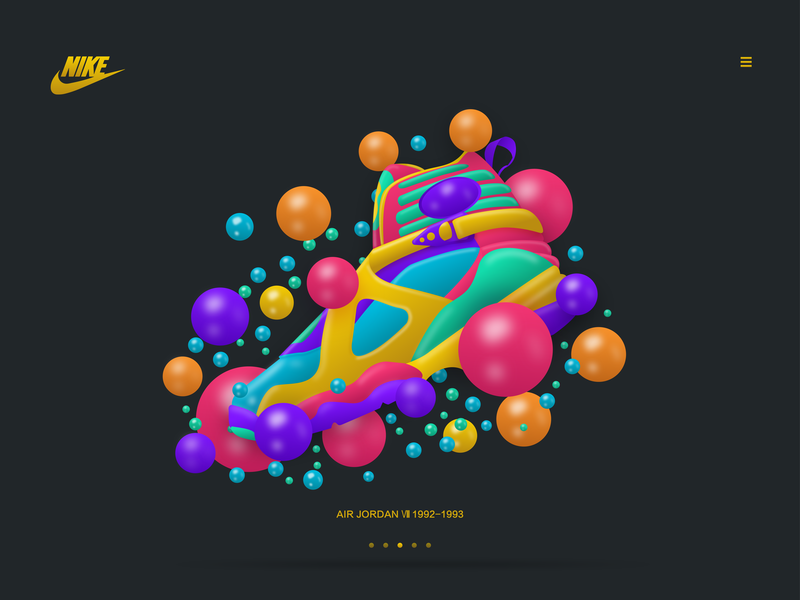 AIR JORDAN Ⅷ 1992-1993 typography 品牌 icon 应用 design 插图 图标 illustration