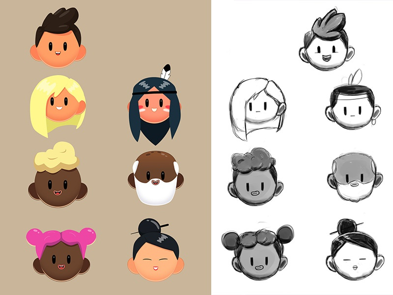 Cute Characters moho12 cute art blackandwhite indian chinese illustration photoshop character design
