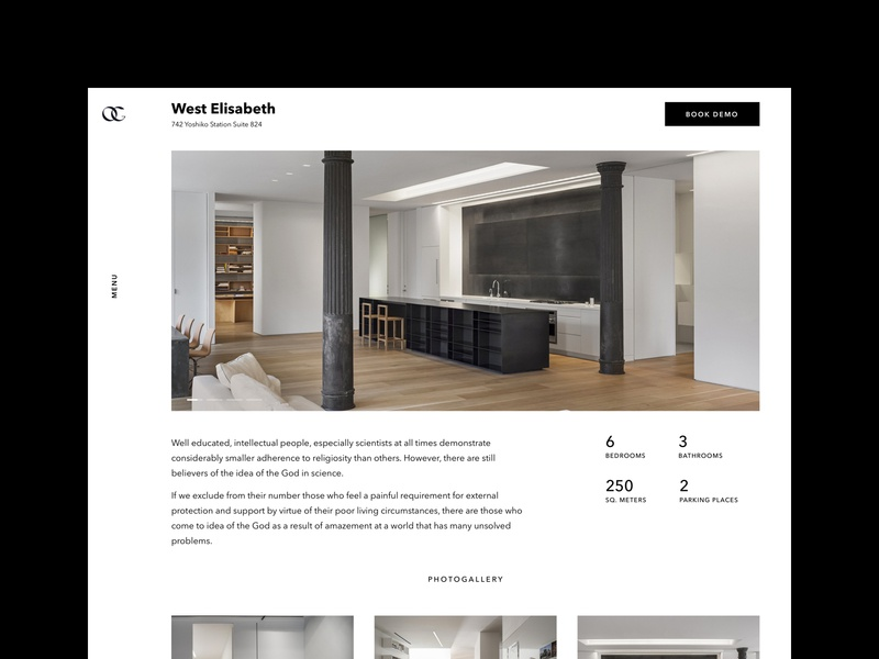 Olga Godynina – Object Info luxury website userinterface design ui uidesign