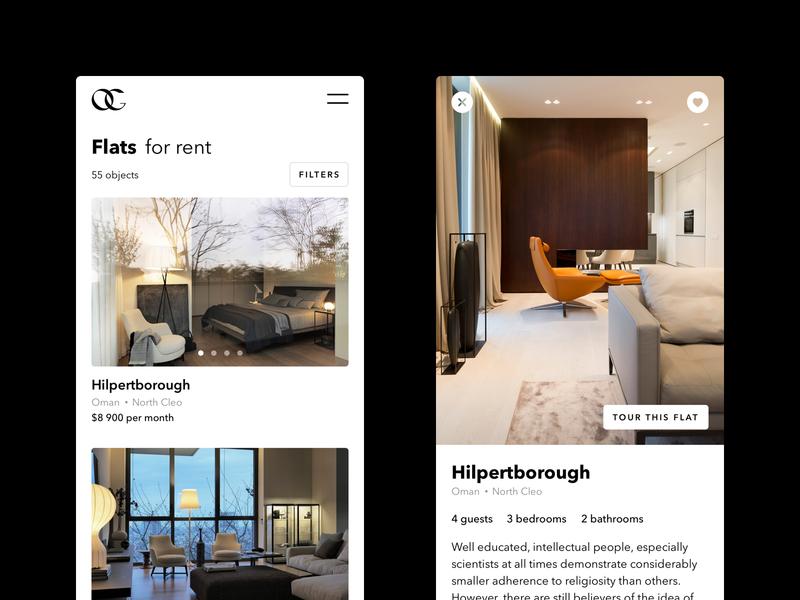 Olga Godynina ux interface concept uidesign mobile design mobile app minimal luxury app website ui user interface design