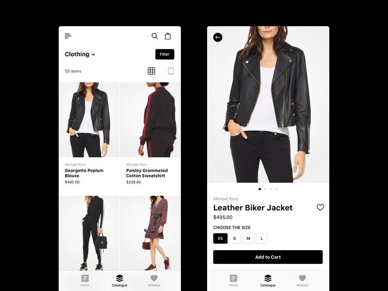 Online Store ecommerce app ux interface concept uidesign mobile design mobile app minimal luxury app ui design user interface