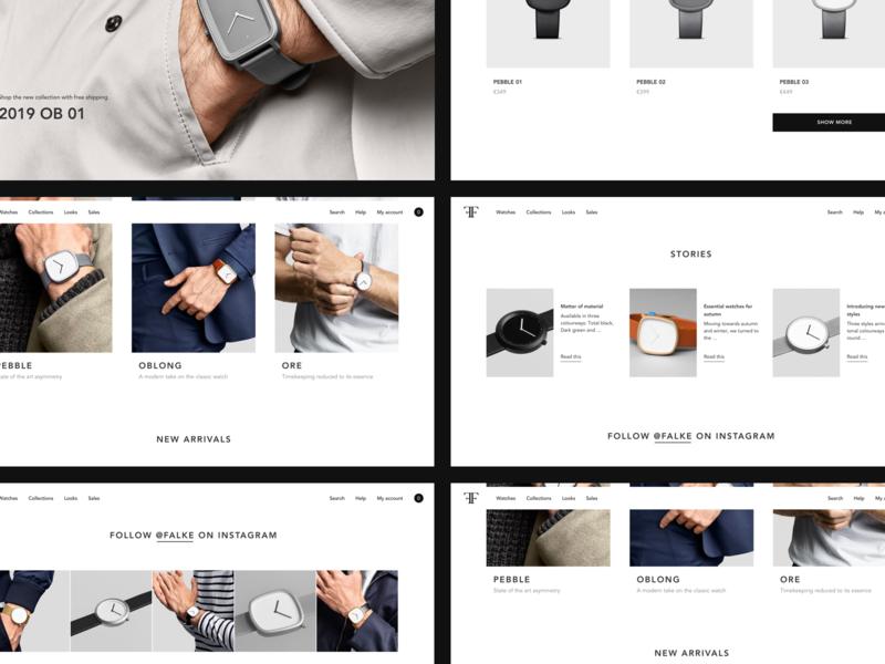 Homepage for Falke website webdesign webdesigner ui ui design ui designer models luxury minimal minimalism concept