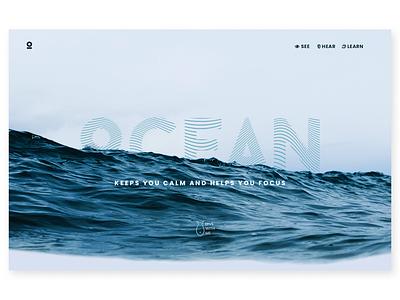 Simple site concept about Ocean uidesign ui uicard graphic desgin photoshop ocean