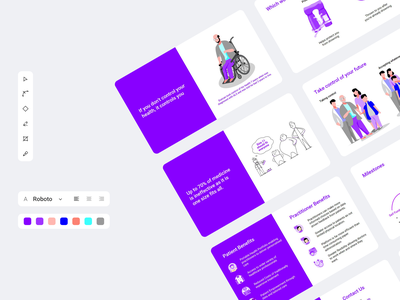 Deck preview mvp storytelling storyboarding style guide slideshow color palette startup branding negative space clean layout minimal slide deck pitch powerpoint presentation doodle infographic card