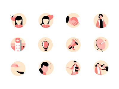Illustrations for Presentation slide google material doodle flat exploration icon branding clean vector