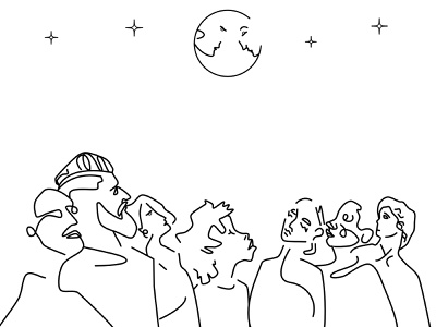 Line Art II duality negative space stroke line doodle illustration clean vector
