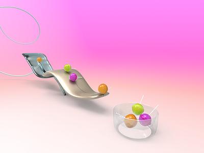 Lollipops candy doodle ux vector clean illustration factory 3d machine lollipop