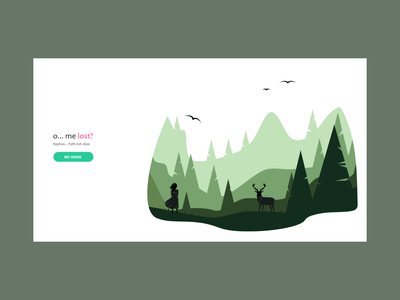 404 visual design empty state wild forest art minimal ui clean true web material vector google illustration doodle branding typography