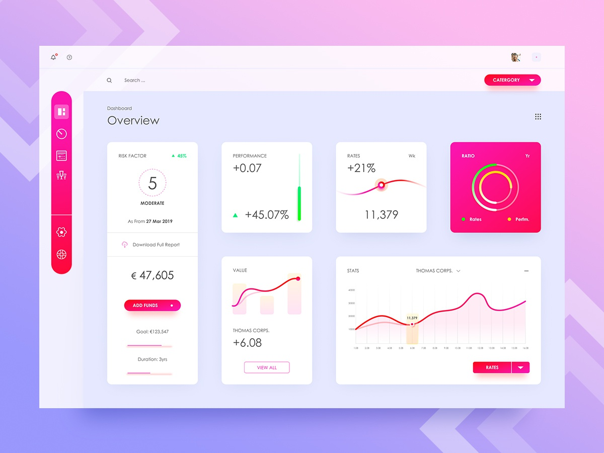 Dashboard 2.0 enterprise saas ui clean typography icon ux analytics chart cms report admin layout design invite data visualisation visualization fluent gradient minimal grid tool