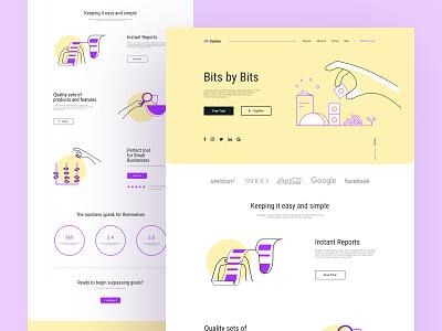 Page exploration b2b infographic doodle visual design vector website typography navigation modern minimal layout header clean negative space texture branding saas color palette stack grid