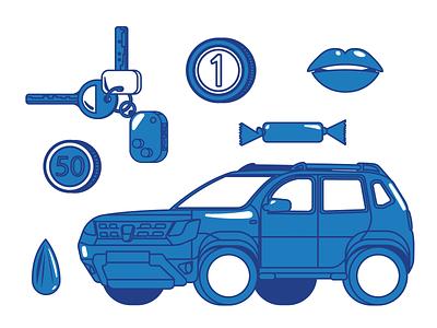 Dacia Duster Illustration Elements duster lineart anilemmiler vector elements illustraion car dacia