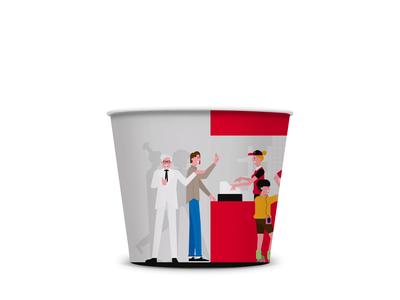 KFC's Turkey 30th Year chicken wings vector fastfood digital bucket sanders colonel kfc digital art illustration anilemmiler