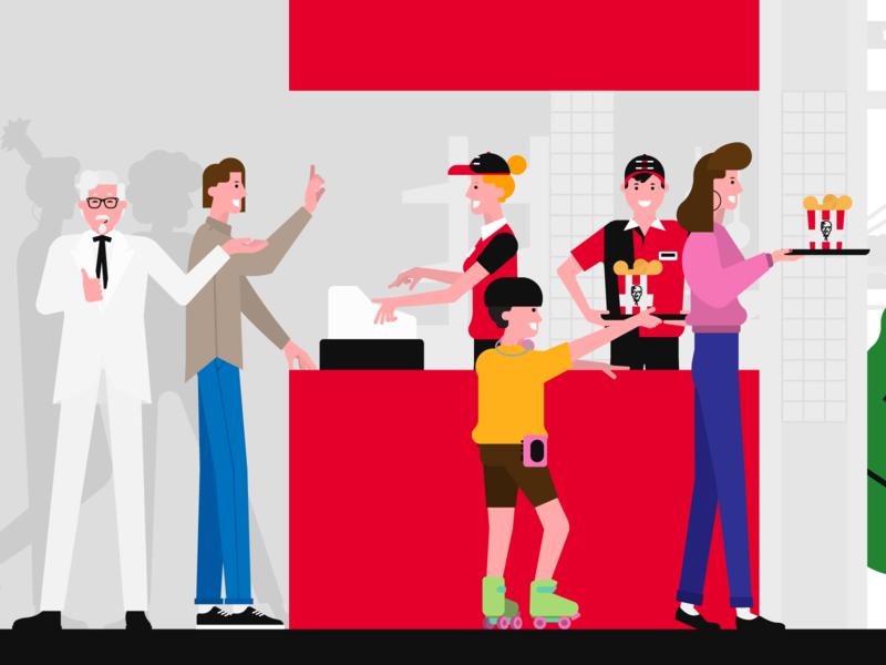 KFC's Turkey 30th Year 90s sanders colonel fastfood kfc vector digital art illustration anilemmiler