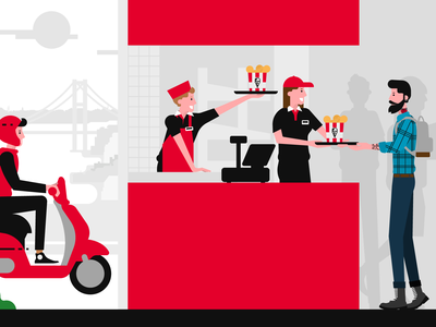 KFC's Turkey 30th Year hipster fastfood kfc flat illustration digital art vector illustration anilemmiler