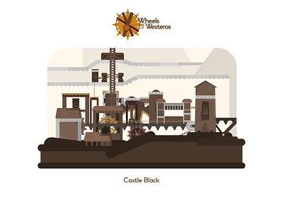 Castle Black wheels of westeros westeros vector black castle game of thrones illustration anilemmiler