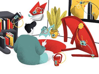 Hacking Everyday Objects objects hacking digital art medium article editorial illustration anilemmiler