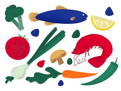 Meals digital paint design digital art procreate illustration anilemmiler