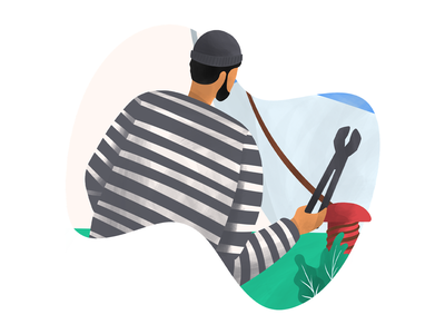 Thief thief procreate digital art illustration anilemmiler