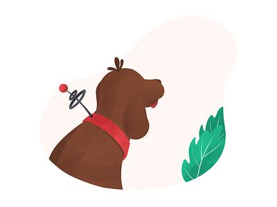 Dog Tracking Chip dog spot illustration procreate illustration anilemmiler